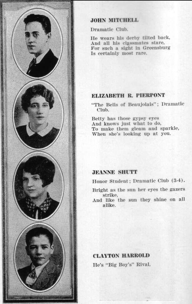 Greensburg High School - 1927