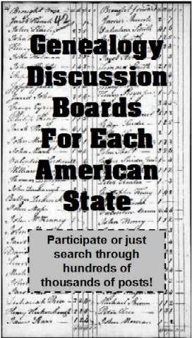 Genealogy discussion forums for each American state